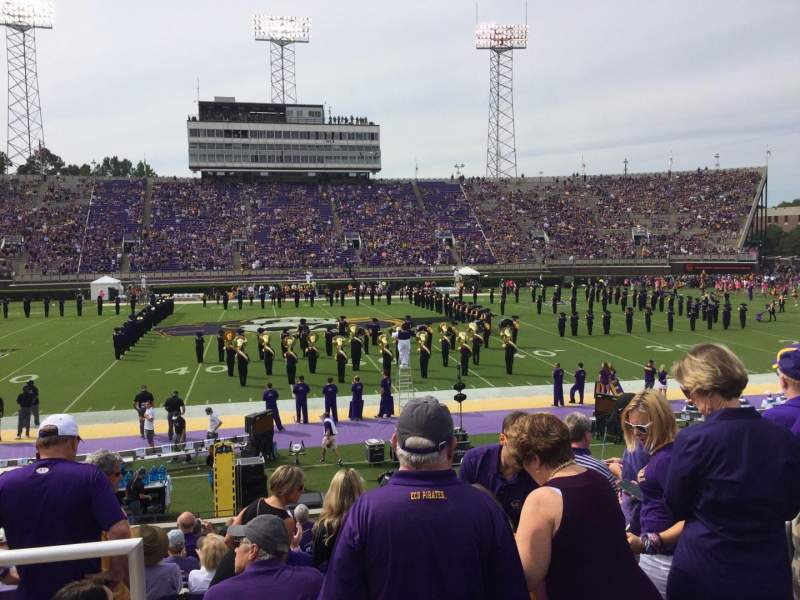 Seating view for Dowdy-Ficklen Stadium Section 17 Row N Seat 26