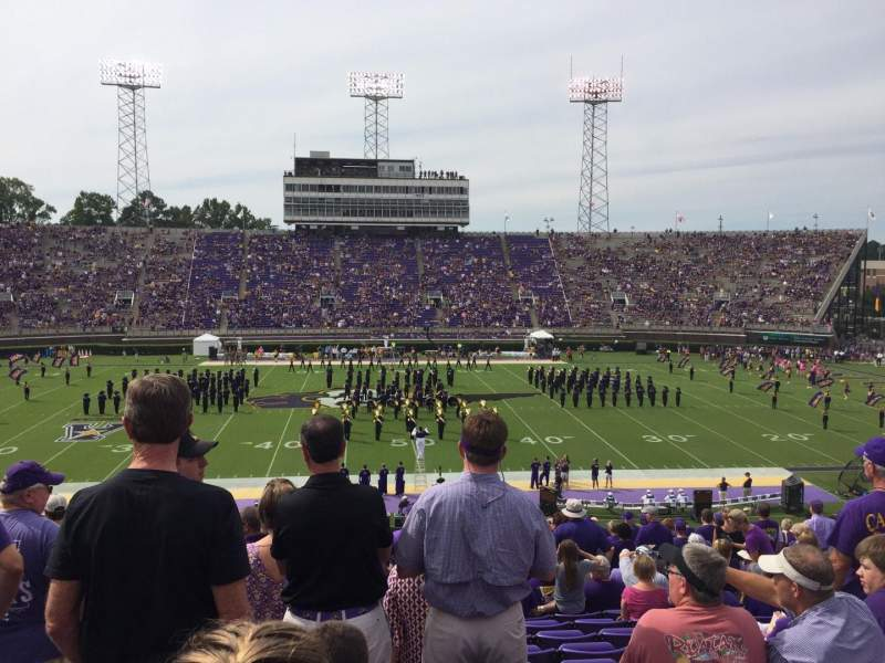 Seating view for Dowdy-Ficklen Stadium Section 17 Row HH Seat 23