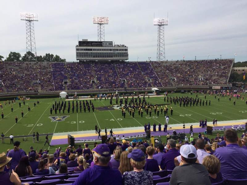 Seating view for Dowdy-Ficklen Stadium Section 18 Row FF Seat 22