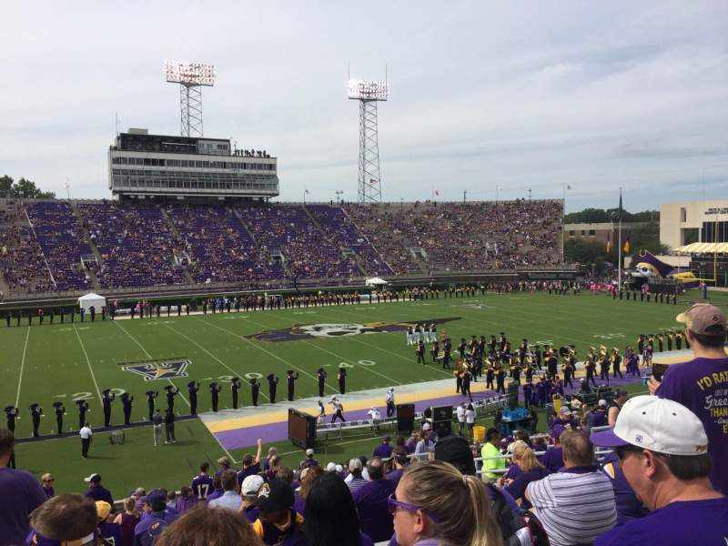 Seating view for Dowdy-Ficklen Stadium Section 19 Row Y Seat 16
