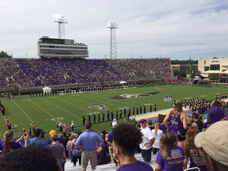 Seating view for Dowdy-Ficklen Stadium Section 20 Row CC Seat 23