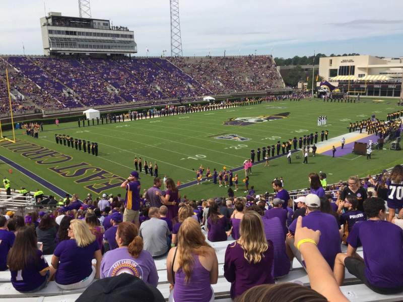 Seating view for Dowdy-Ficklen Stadium Section 22 Row EE Seat 9
