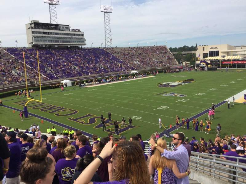 Seating view for Dowdy-Ficklen Stadium Section 23 Row S Seat 4