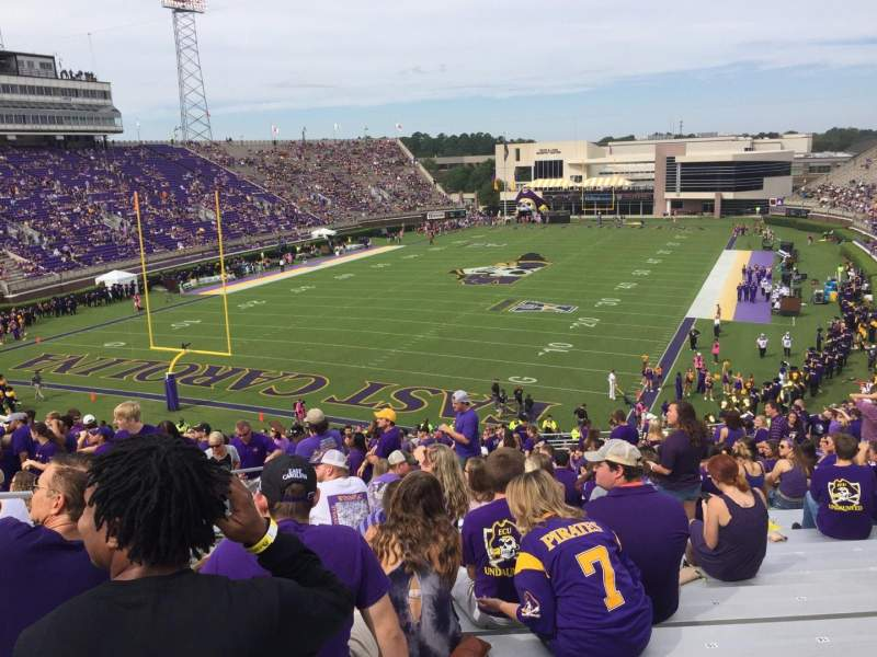 Seating view for Dowdy-Ficklen Stadium Section 24 Row DD Seat 18