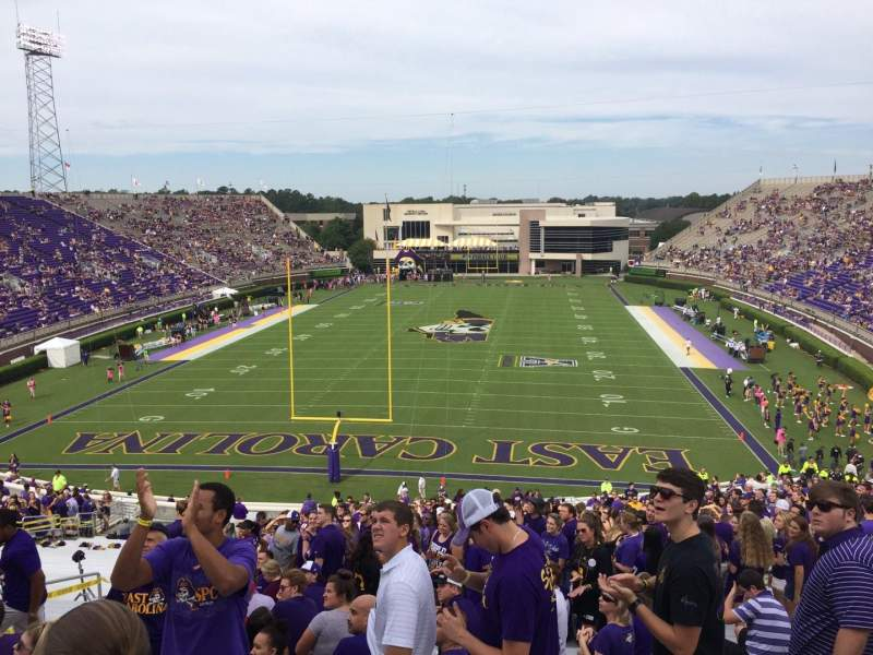 Seating view for Dowdy-Ficklen Stadium Section 26 Row FF Seat 15