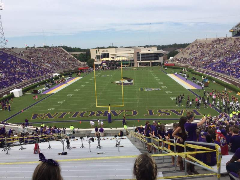 Seating view for Dowdy-Ficklen Stadium Section 27 Row GG Seat 3