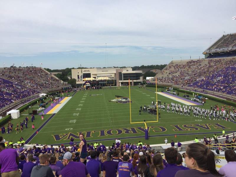 Seating view for Dowdy-Ficklen Stadium Section 28 Row FF Seat 6