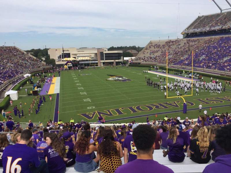 Dowdy-Ficklen Stadium, section: 29, row: BB, seat: 12