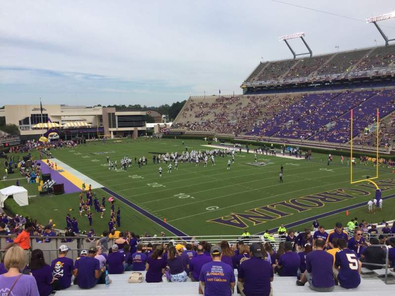 Seating view for Dowdy-Ficklen Stadium Section 31 Row AA Seat 10