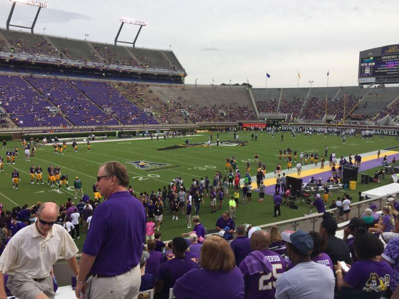 Dowdy-Ficklen Stadium, section: 10, row: Q, seat: 4