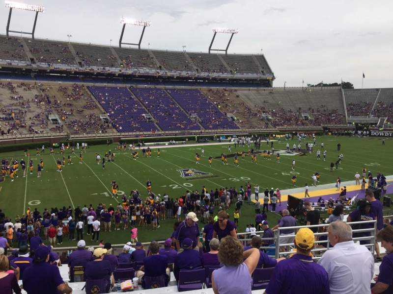 Dowdy-Ficklen Stadium, section: 9, row: BB, seat: 13