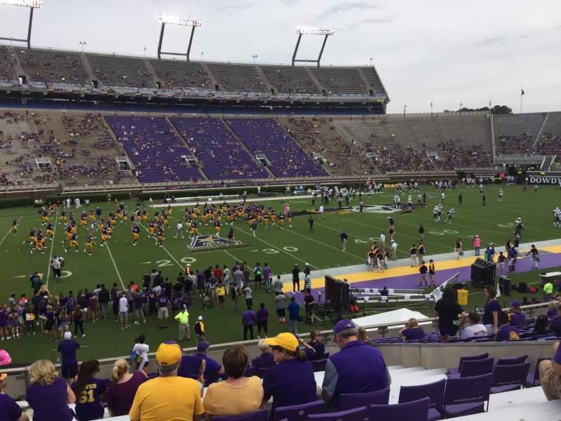 Seating view for Dowdy-Ficklen Stadium Section 8B Row V Seat 26
