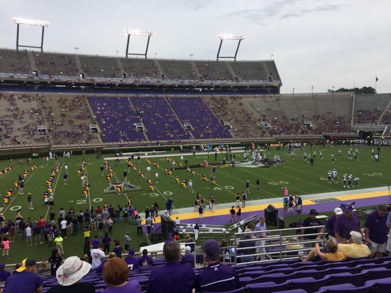 Seating view for Dowdy-Ficklen Stadium Section 8A Row Y Seat 10