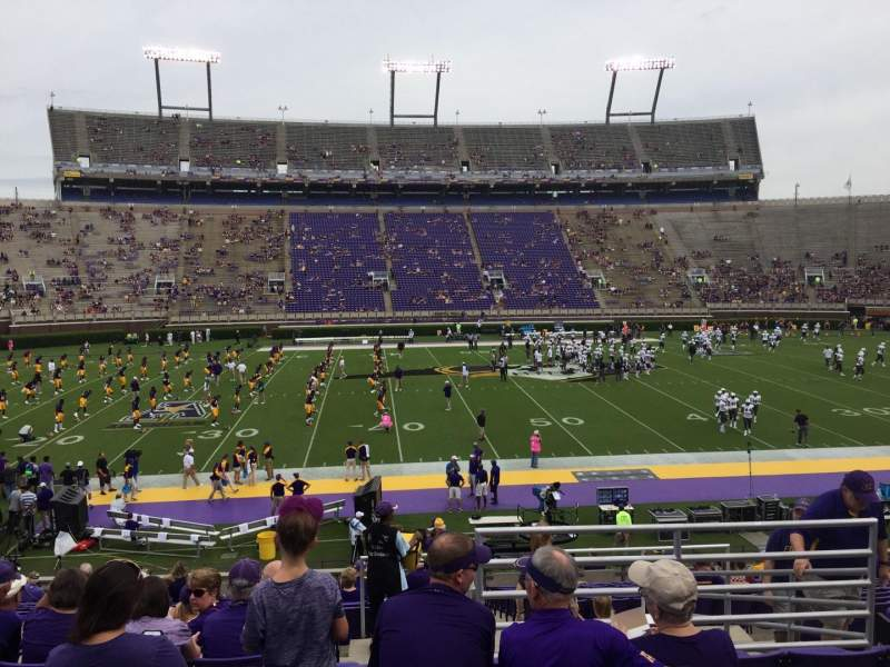 Seating view for Dowdy-Ficklen Stadium Section 7 Row U Seat 6