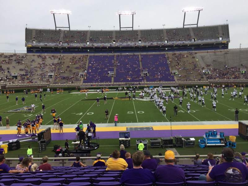 Seating view for Dowdy-Ficklen Stadium Section 6 Row O Seat 17