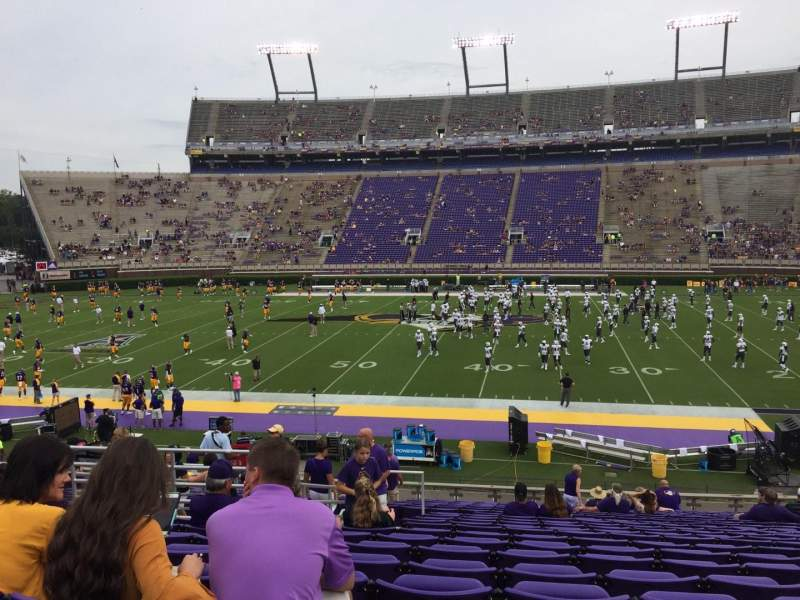 Dowdy-Ficklen Stadium, section: 5, row: X, seat: 20