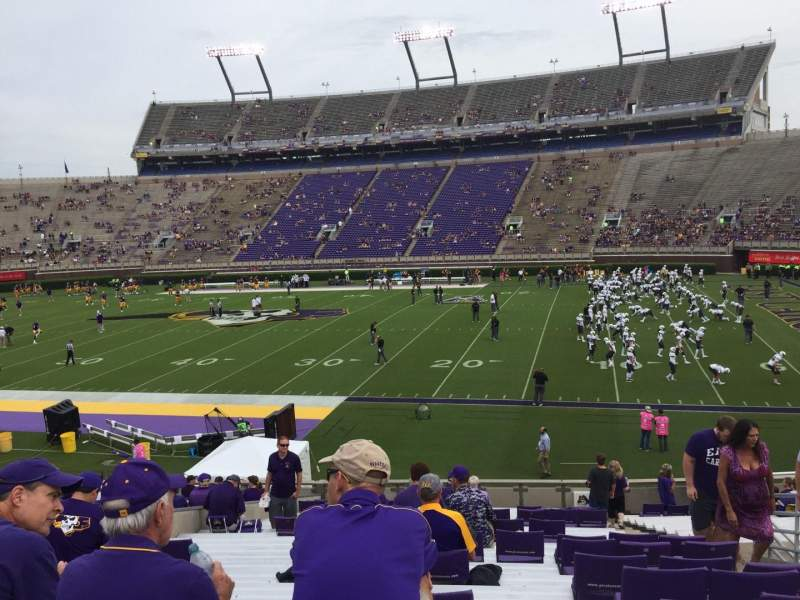 Seating view for Dowdy-Ficklen Stadium Section 4A Row Z Seat 5