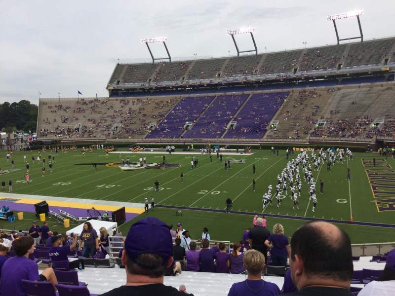 Seating view for Dowdy-Ficklen Stadium Section 3 Row HH Seat 16