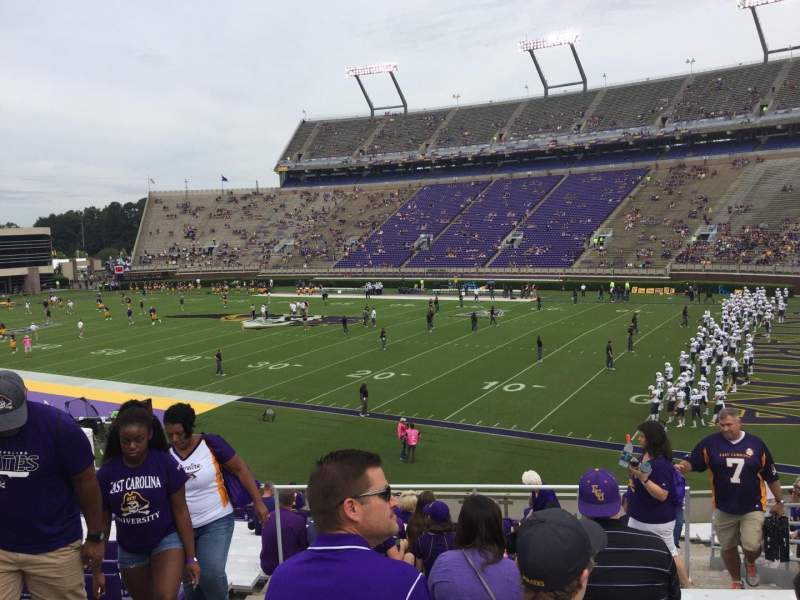 Seating view for Dowdy-Ficklen Stadium Section 2 Row BB Seat 22