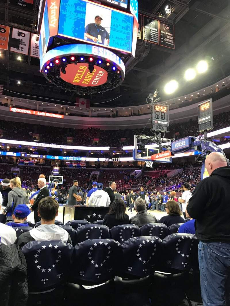 Seating view for Wells Fargo Center Section 106 Row C Seat 8-5