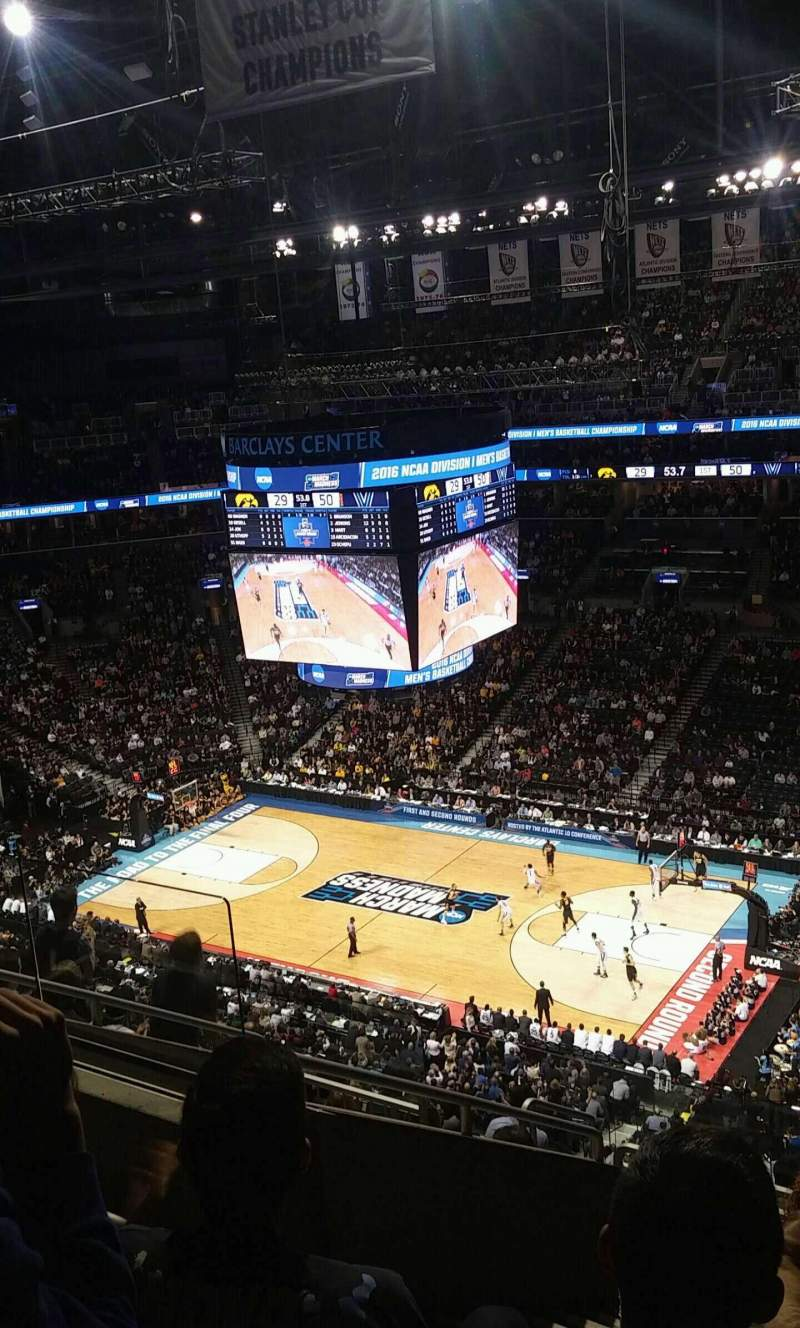 Seating view for Barclays Center Section 205 Row 10 Seat 10