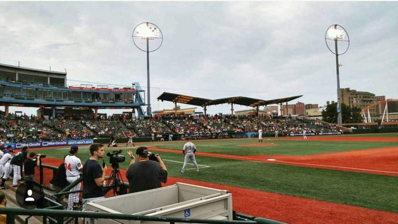 Seating view for MCU Park Section 6 Row C Seat 6