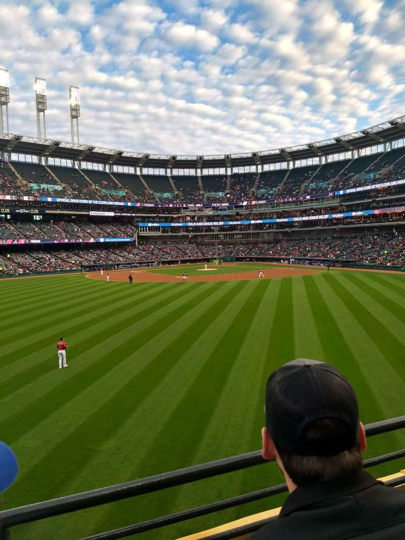 Seating view for Progressive Field Section 184 Row B Seat 15