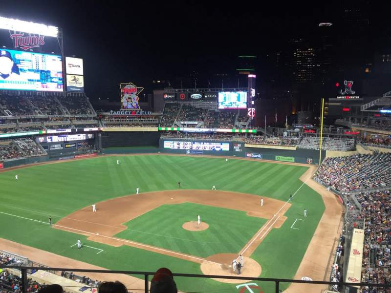 Seating view for Target Field Section 217 Row 4 Seat 10