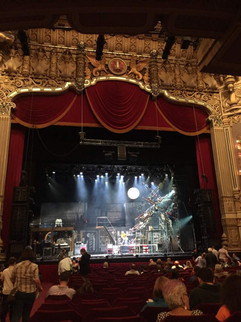 Seating view for Nederlander Theatre (Chicago) Section Orchestra C Row U Seat 101