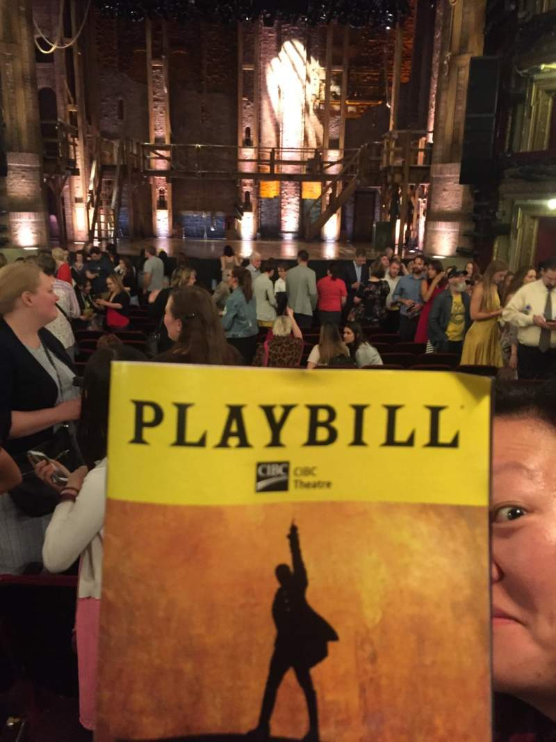 Seating view for CIBC Theatre Section Orchestra C Row V Seat 111