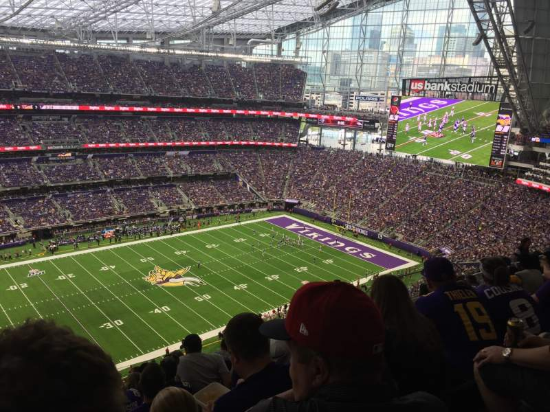 Seating view for U.S. Bank Stadium Section 315 Row 11 Seat 26