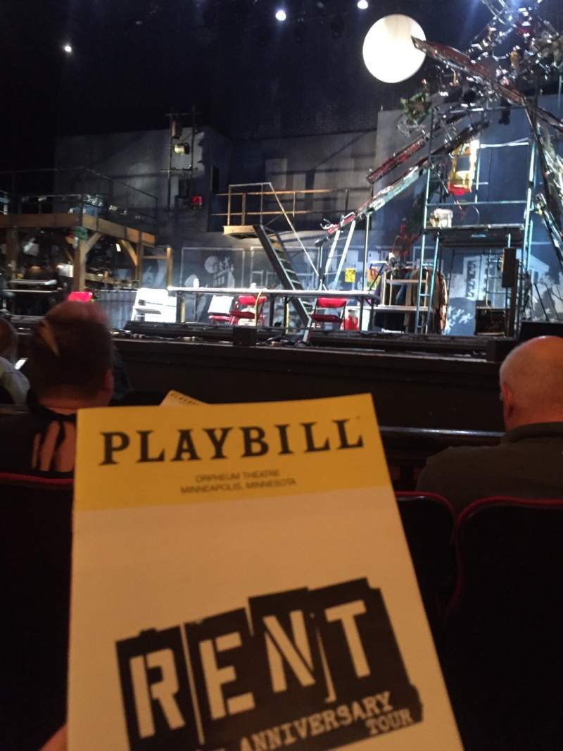 Seating view for Orpheum Theatre (Minneapolis) Section MF2 Row D Seat 11