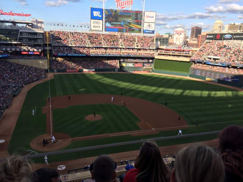 Seating view for Target Field Section 211 Row 3 Seat 11