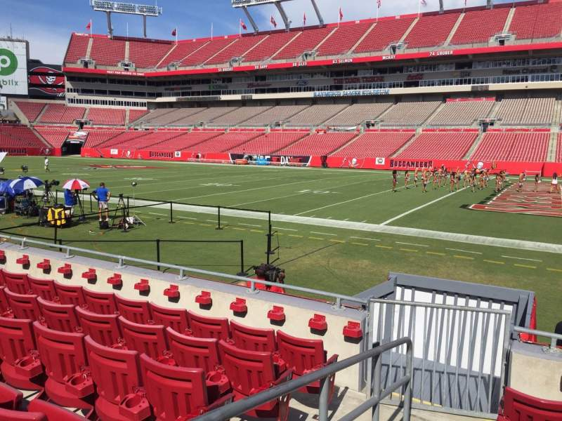 Seating view for Raymond James Stadium Section 115 Row F Seat 1