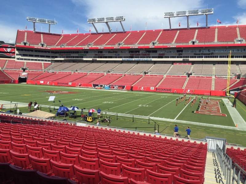 Seating view for Raymond James Stadium Section 114 Row Cc Seat 24