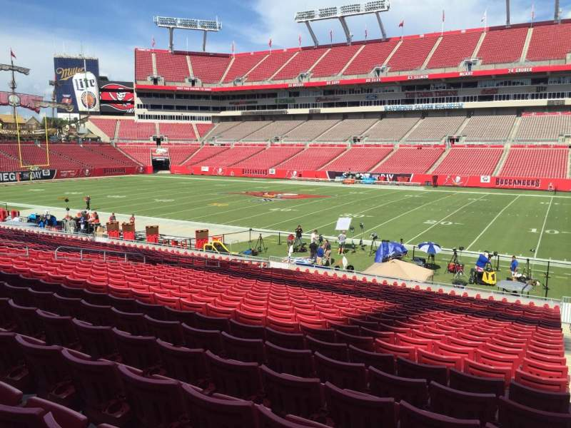Seating view for Raymond James Stadium Section 113 Row Cc Seat 24