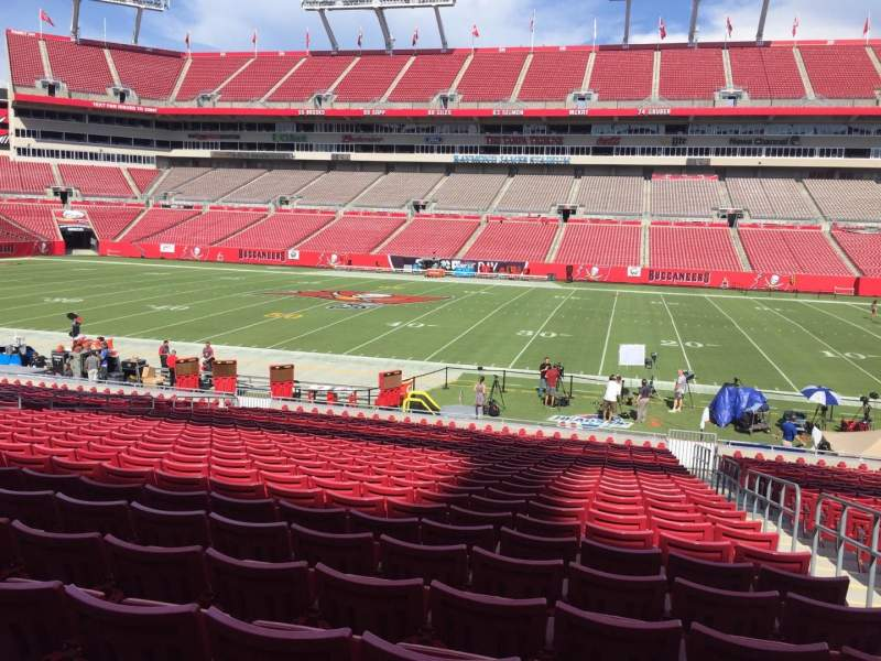 Seating view for Raymond James Stadium Section 112 Row Cc Seat 24