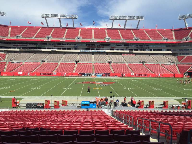 Seating view for Raymond James Stadium Section 110 Row Cc Seat 19