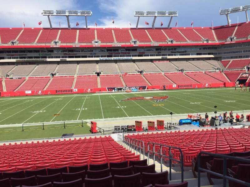 Seating view for Raymond James Stadium Section 109 Row Cc Seat 10