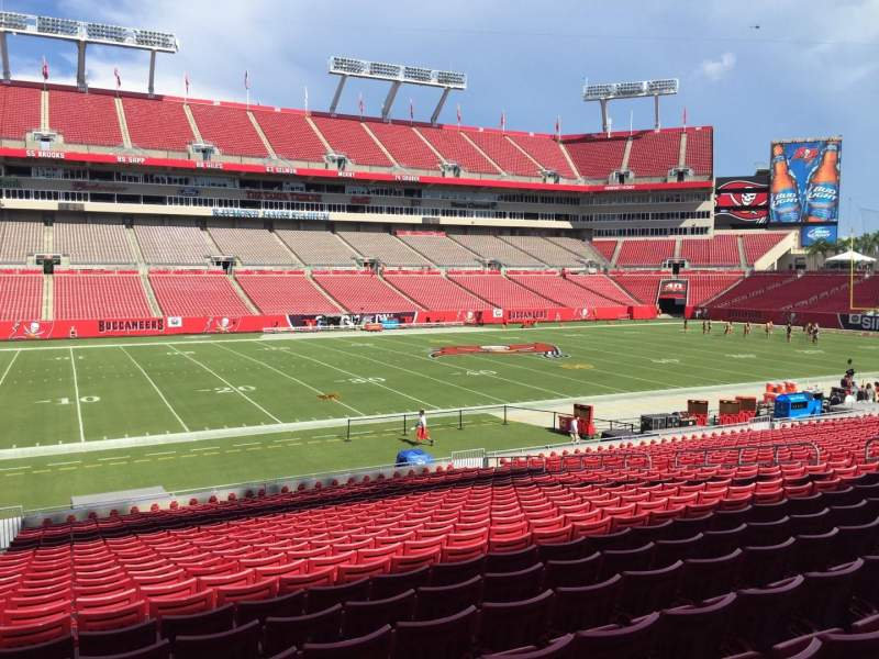 Seating view for Raymond James Stadium Section 108 Row Cc Seat 24