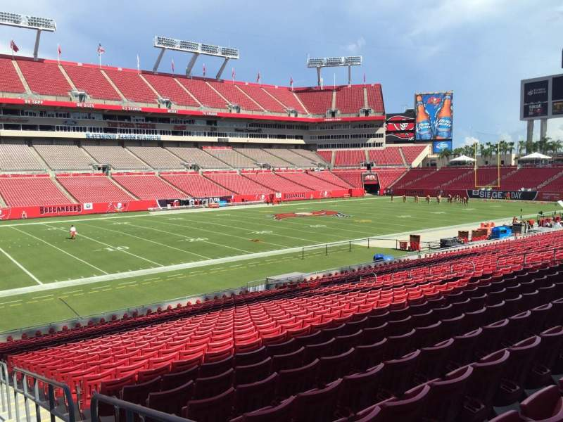 Seating view for Raymond James Stadium Section 106 Row Cc Seat 24