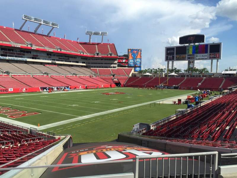 Seating view for Raymond James Stadium Section 102 Row Cc Seat 6