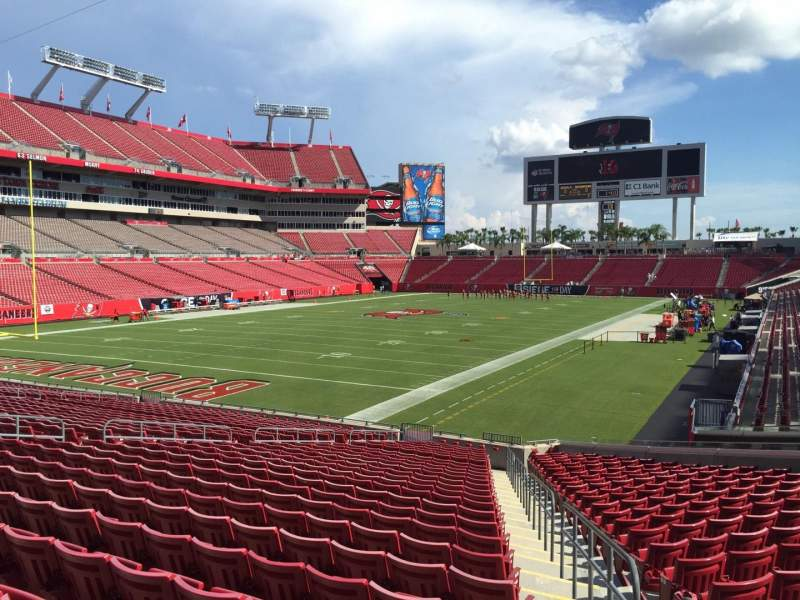 Seating view for Raymond James Stadium Section 151 Row Cc Seat 24
