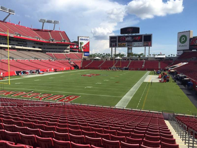 Seating view for Raymond James Stadium Section 150 Row Cc Seat 24
