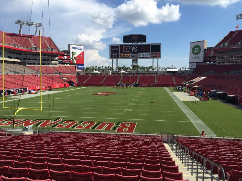 Seating view for Raymond James Stadium Section 149 Row Cc Seat 24