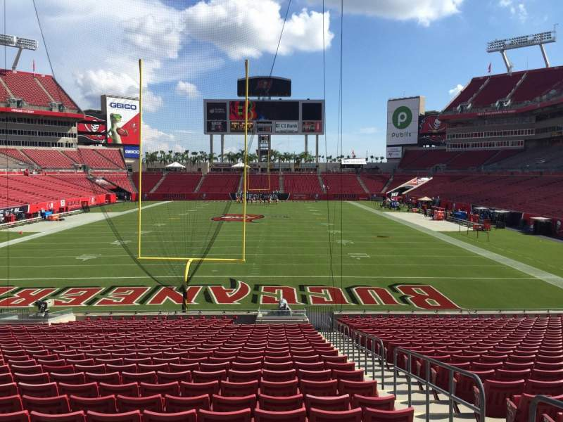 Seating view for Raymond James Stadium Section 148 Row Cc Seat 20