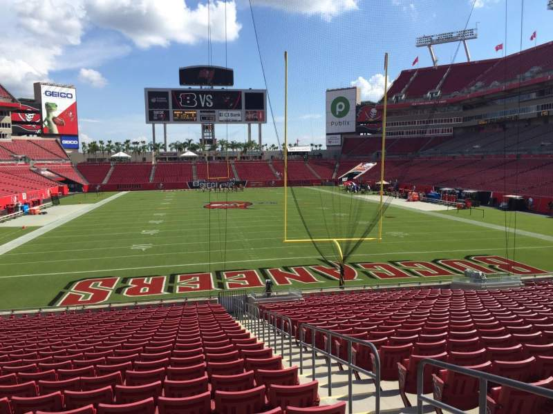 Seating view for Raymond James Stadium Section 147 Row Cc Seat 22