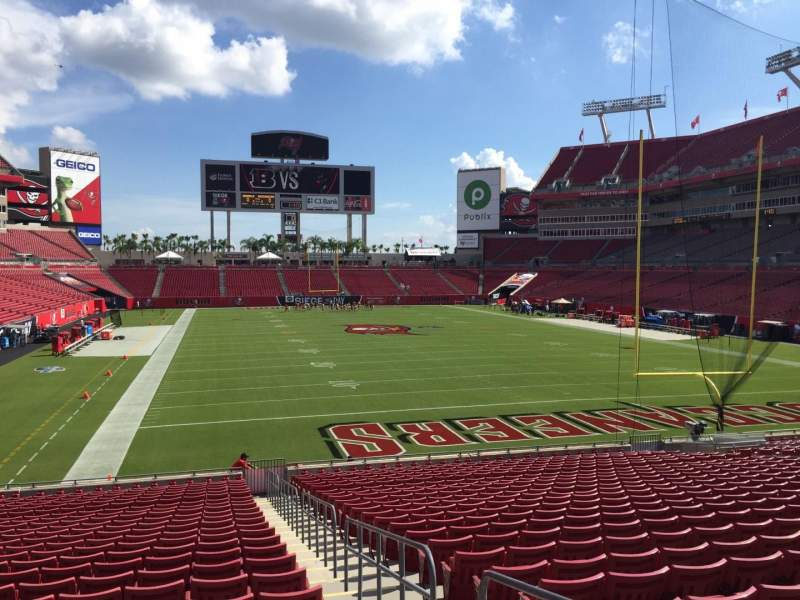 Seating view for Raymond James Stadium Section 146 Row Cc Seat 23