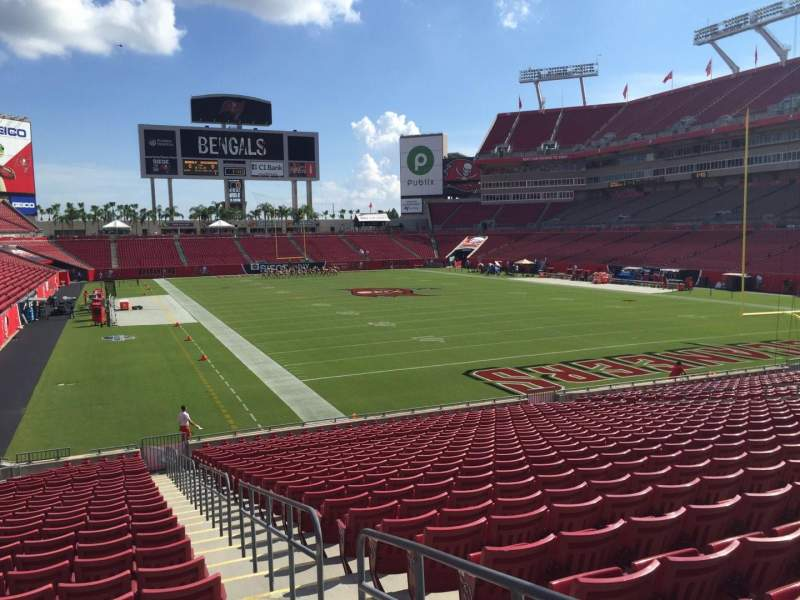 Seating view for Raymond James Stadium Section 145 Row Cc Seat 23