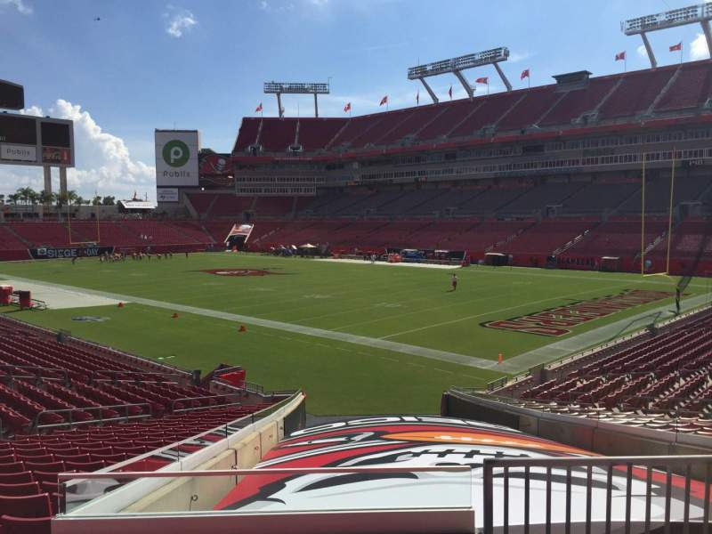 Seating view for Raymond James Stadium Section 143 Row Cc Seat 24